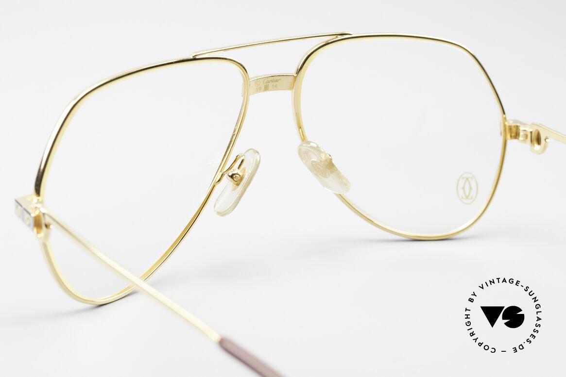Cartier Vendome Santos - M James Bond Glasses Original, worn by actor Christopher Walken (JAMES BOND, 1985), Made for Men