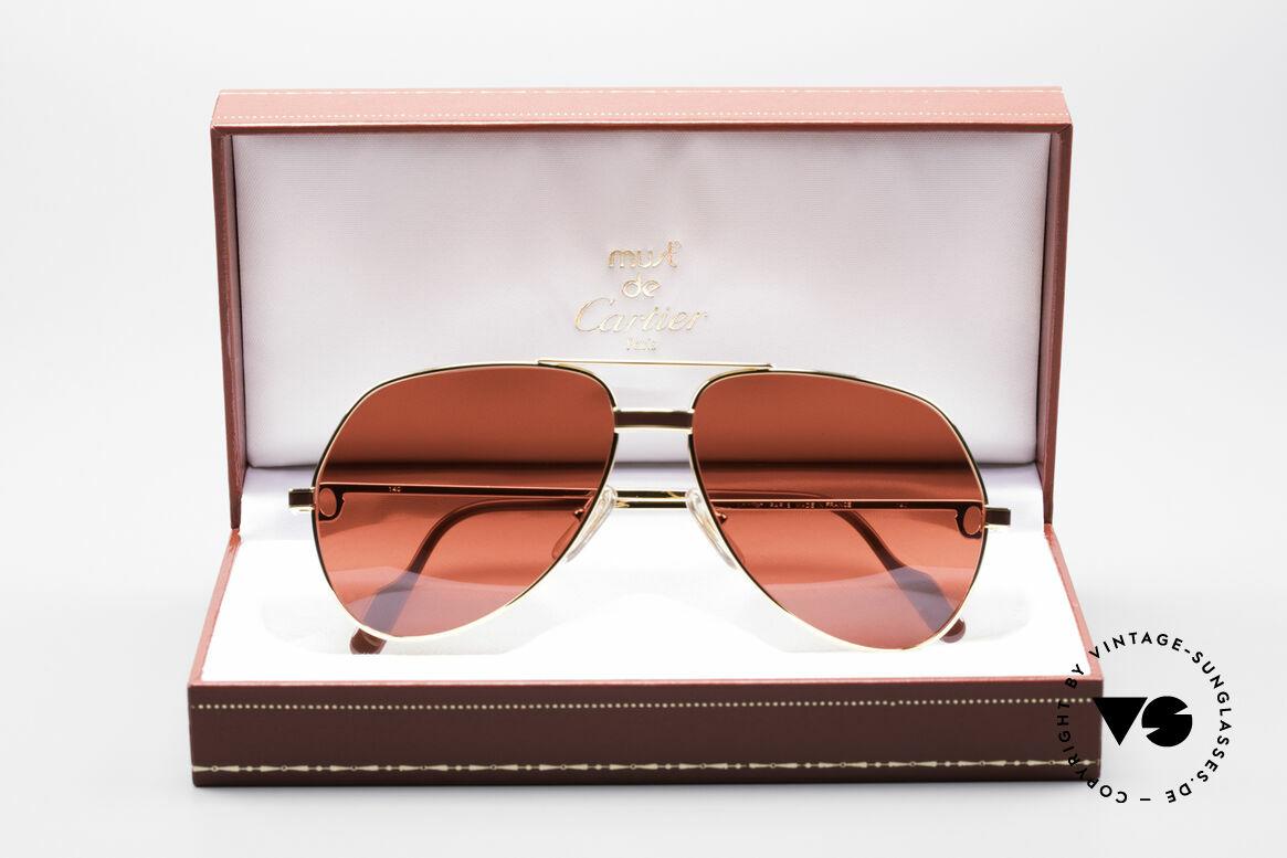 Cartier Vendome Laque - M Luxury Aviator Shades 80'S