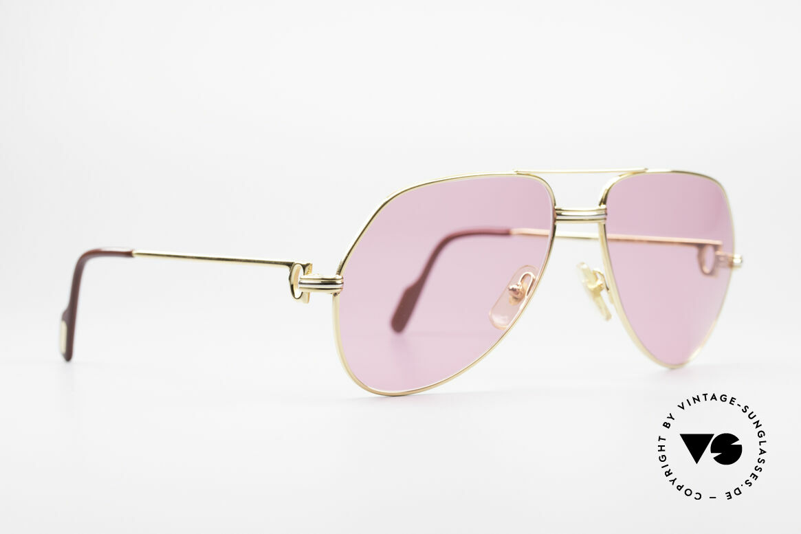Cartier Vendome LC - M Michael Douglas 80's Shades, this pair (with L.Cartier decor): MEDIUM size 59-14,140, Made for Men and Women