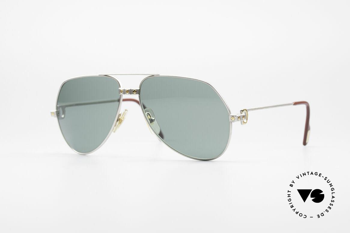 Cartier Vendome Santos - M Rare Luxury Palladium Finish, Vendome = the most famous eyewear design by CARTIER, Made for Men