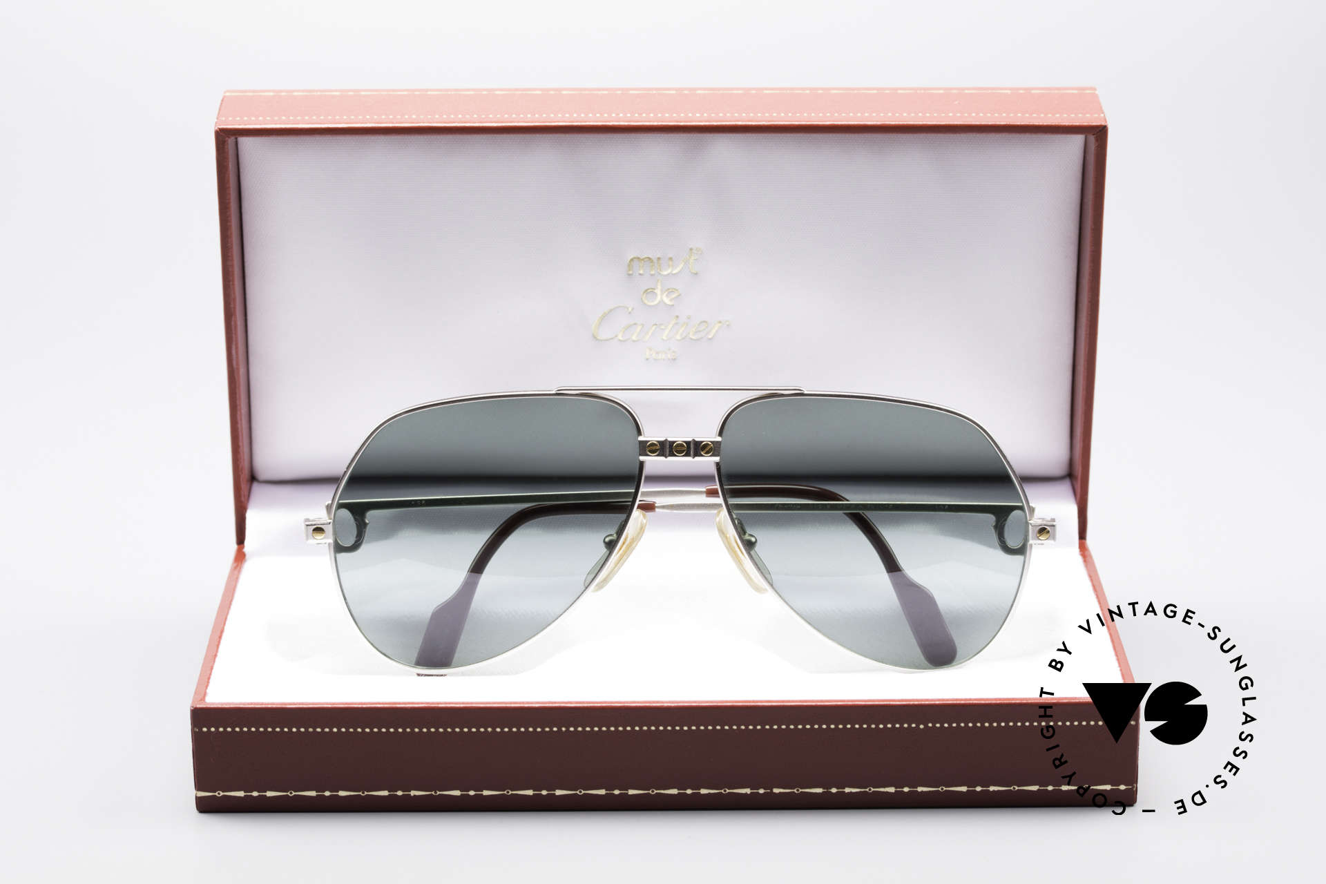 Cartier Vendome Santos - M Rare Luxury Palladium Finish, unworn rarity with orig. packing; hard to find these days, Made for Men