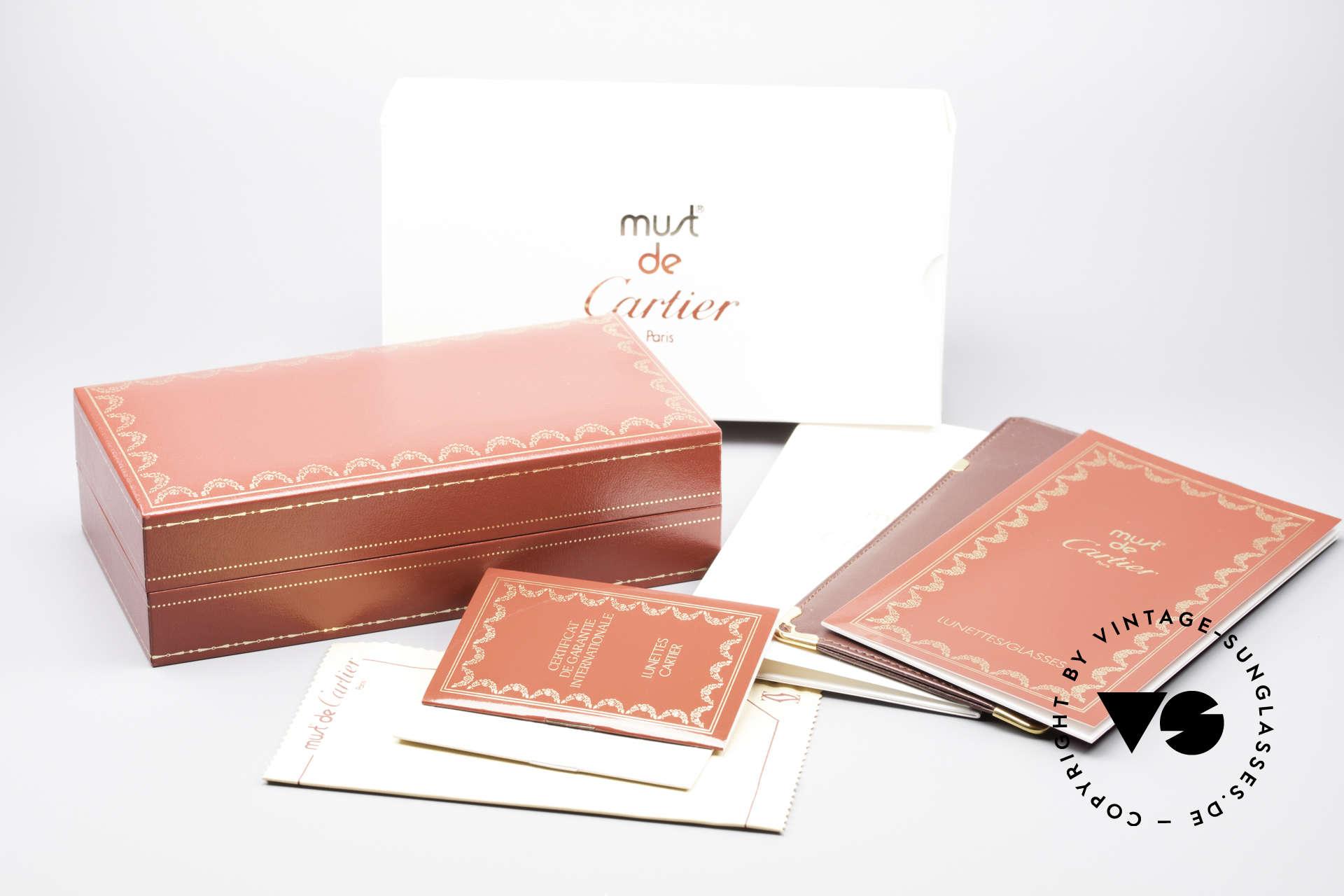 Cartier Vendome Santos - M Rare Luxury Palladium Finish, NO retro sunglasses, but an authentic vintage ORIGINAL, Made for Men