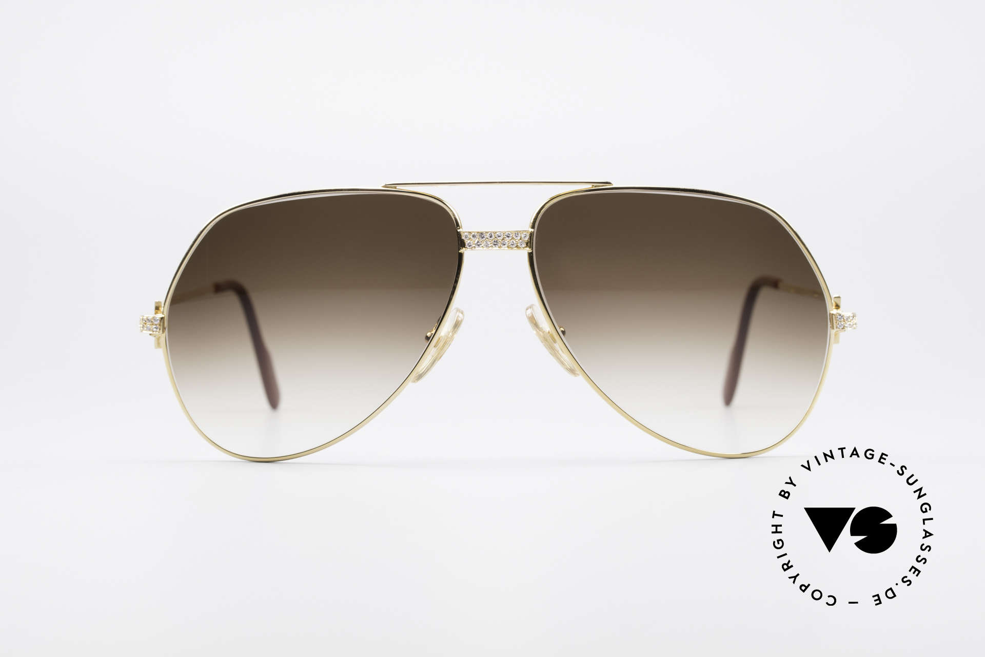 Cartier Grand Pavage Diamond Glasses, 18kt (750) SOLID GOLD frame with 0.86 carat BRILLANTS, Made for Men