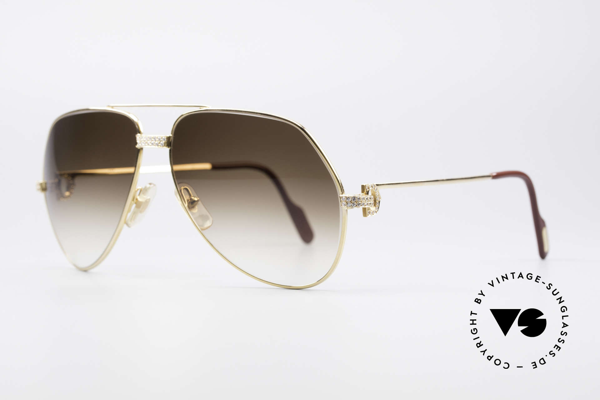 Cartier Grand Pavage Diamond Glasses, Grand Pavage was only made upon request & prepayment, Made for Men