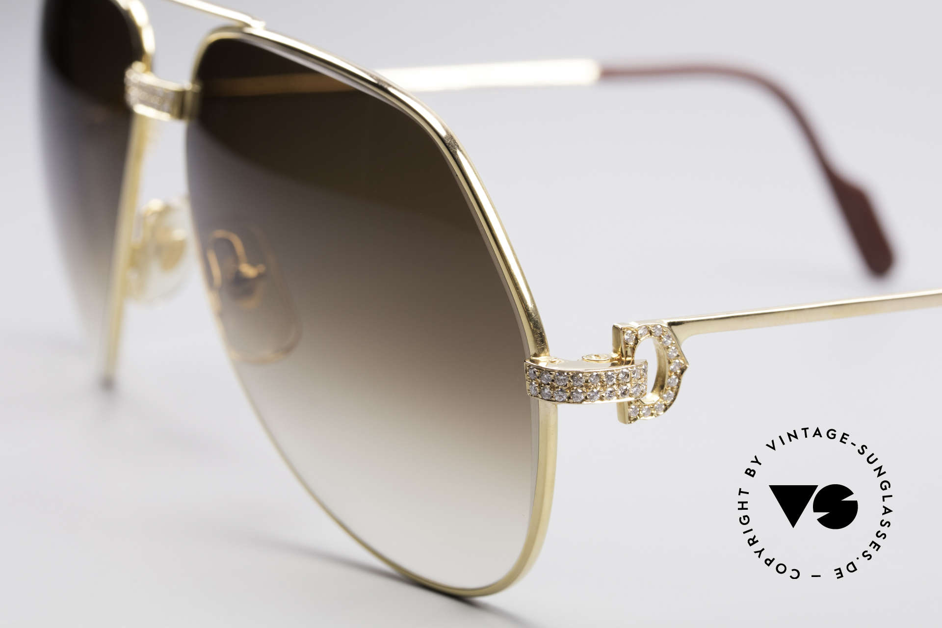Cartier Grand Pavage Diamond Glasses, basic price was 25.300 DM (dependent on the gold price), Made for Men