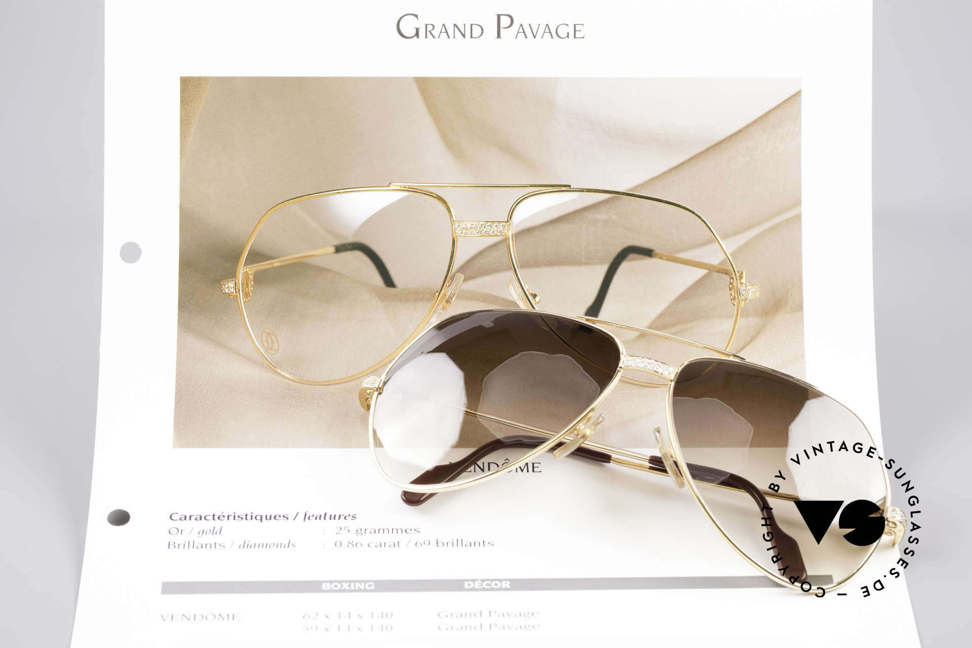 Cartier Grand Pavage Diamond Glasses, LUXURY JEWELRY vintage sunglasses (25 grams of GOLD), Made for Men