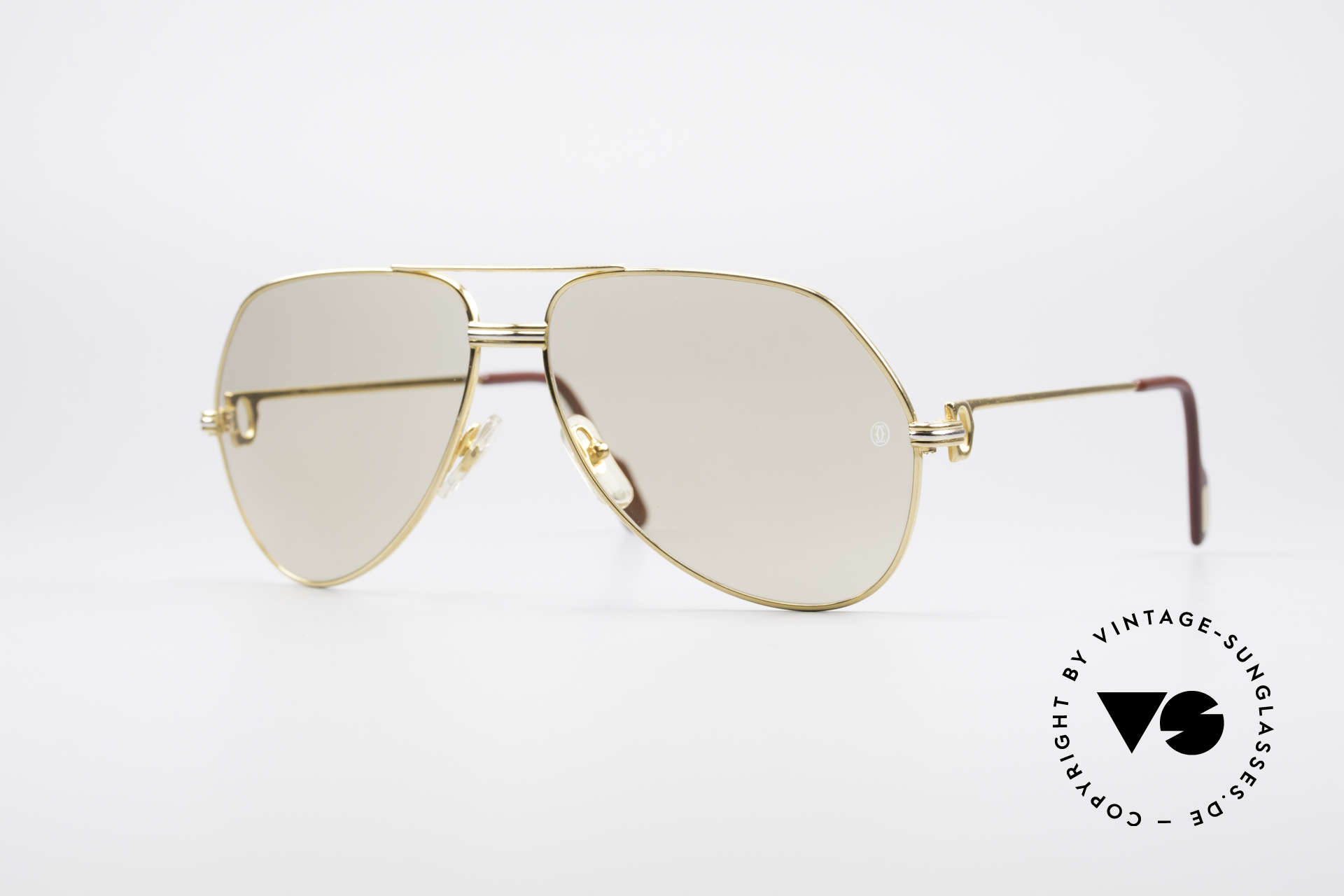 Cartier Vendome LC - L Mineral Lens With Cartier Logo, Vendome = the most famous eyewear design by CARTIER, Made for Men