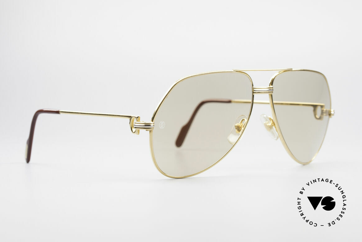 Cartier Vendome LC - L Mineral Lens With Cartier Logo, this pair (with L.Cartier decor): LARGE size 62-14, 140, Made for Men