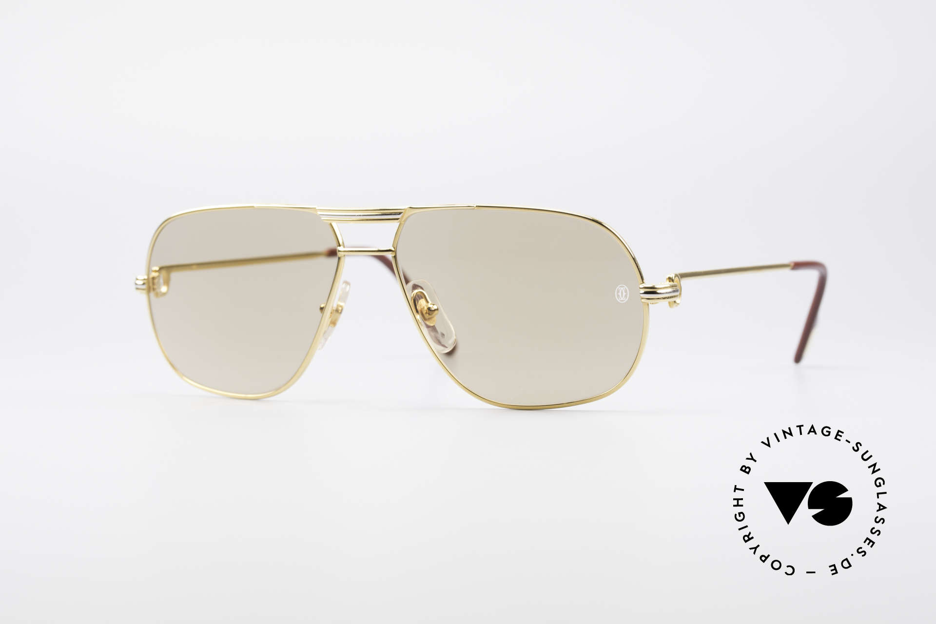 Cartier Tank - M Luxury Designer Sunglasses, orig. Cartier shades from 1988; MEDIUM size 59°14, 140, Made for Men