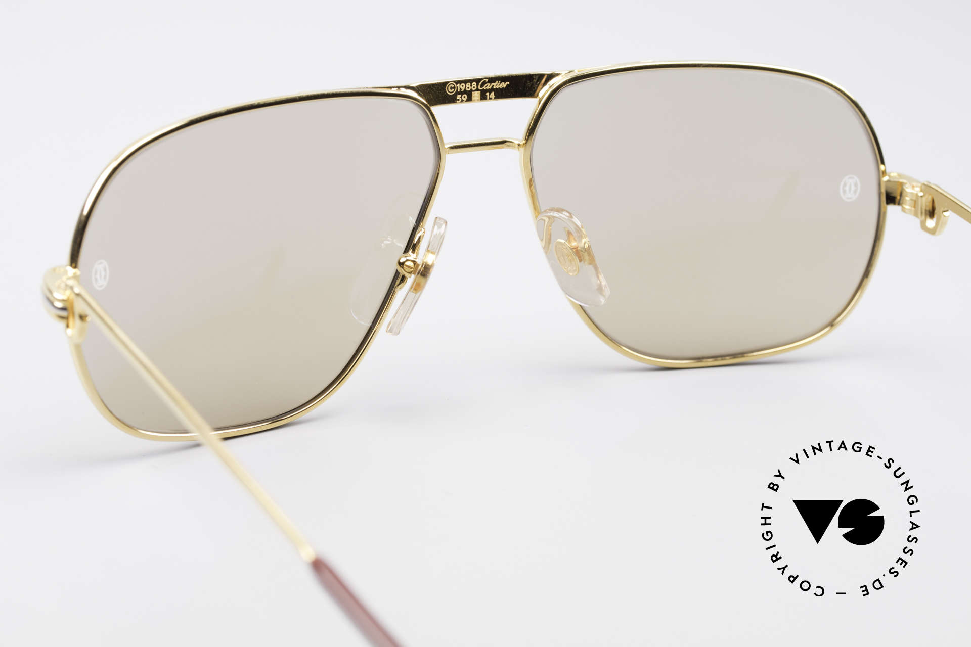Cartier Tank - M Luxury Designer Sunglasses, 22ct gold-plated frame (like all vintage Cartier originals), Made for Men