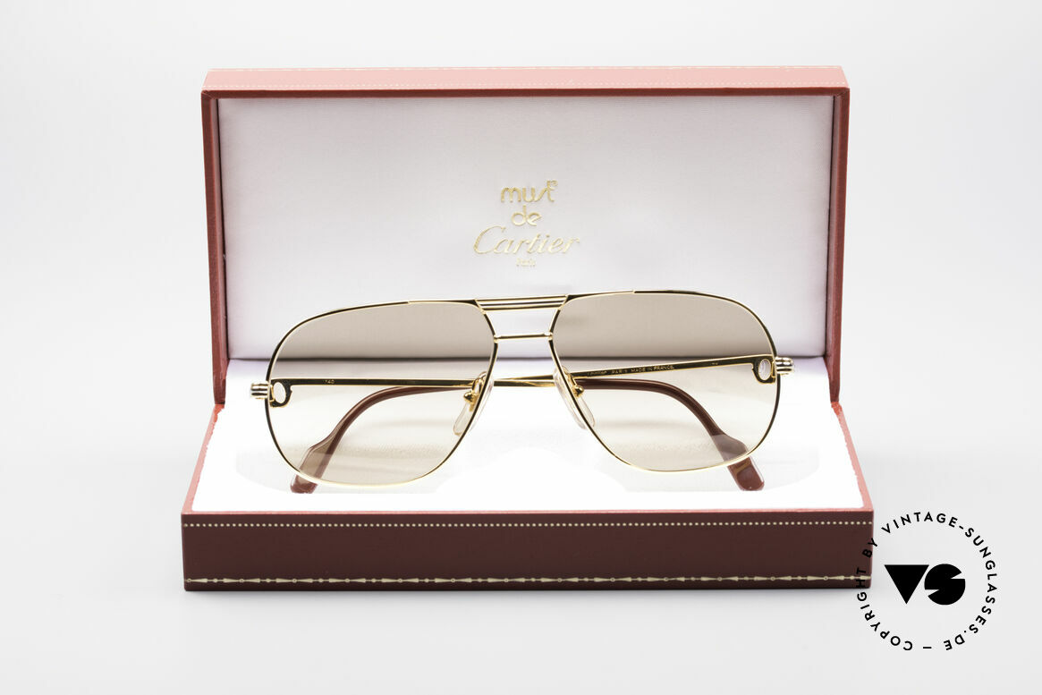 Cartier Tank - M Luxury Designer Sunglasses, high-end mineral lenses (100% UV) with CARTIER logos!, Made for Men