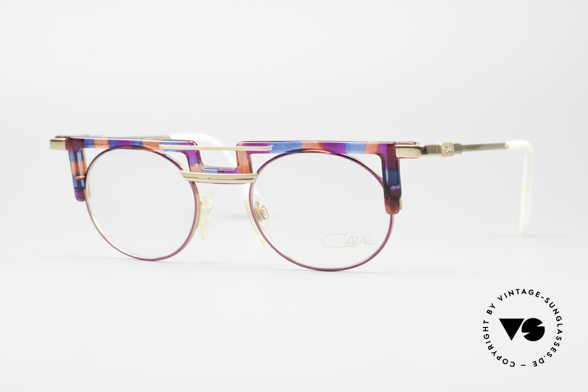 Cazal 745 Striking 90's Vintage Frame, striking Cazal vintage eyeglass-frame from 1991, Made for Women