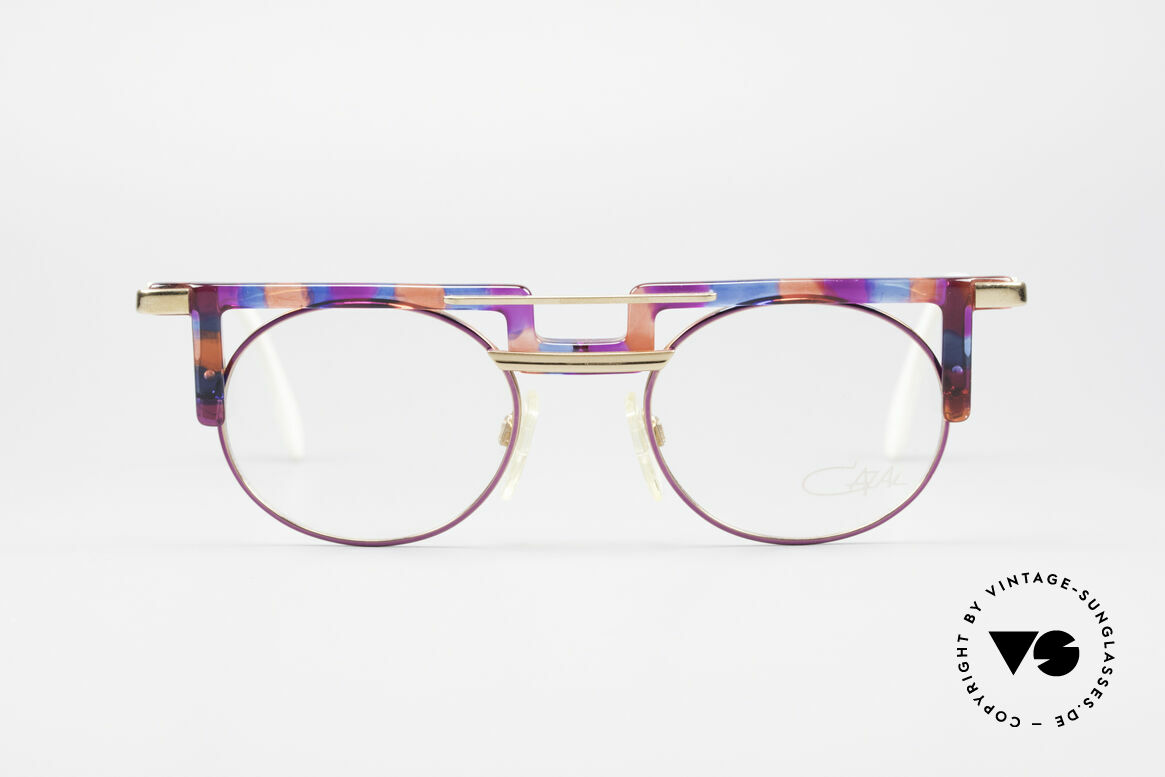 Cazal 745 Striking 90's Vintage Frame, great combination of shapes, colors & materials, Made for Women