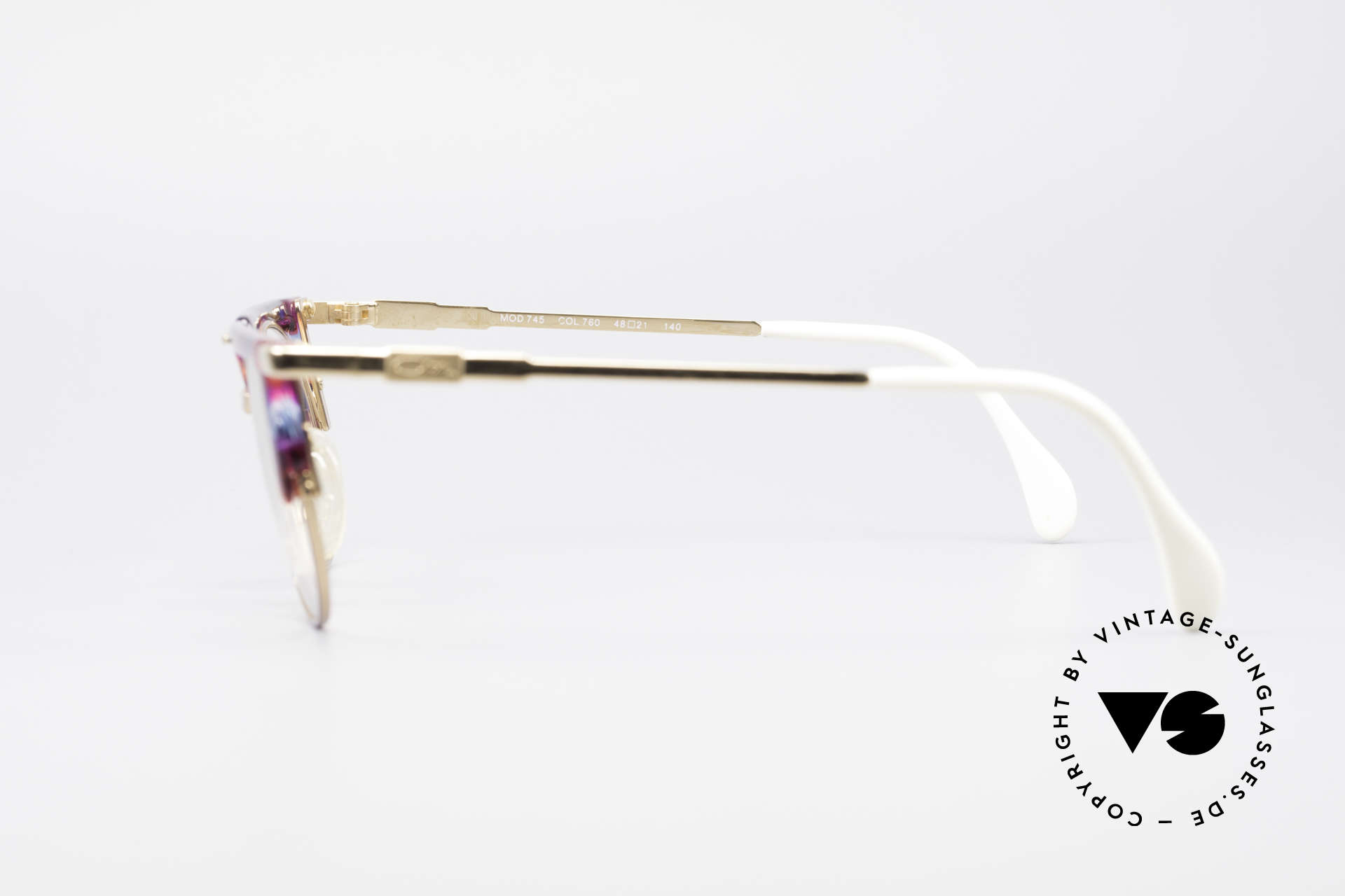 Cazal 745 Striking 90's Vintage Frame, NO RETRO Eyewear, but a 25 years old ORIGINAL!, Made for Women