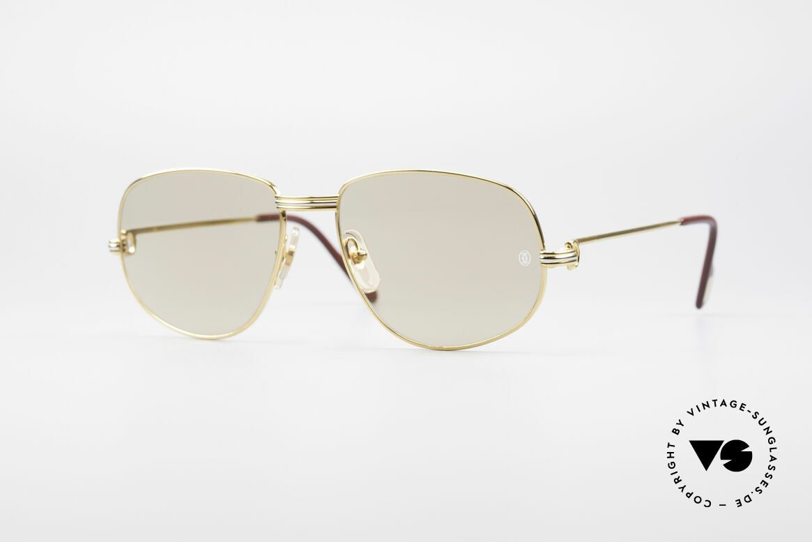 Cartier Romance LC - L Luxury Designer Shades, vintage Cartier sunglasses; model ROMANCE Louis Cartier, Made for Men