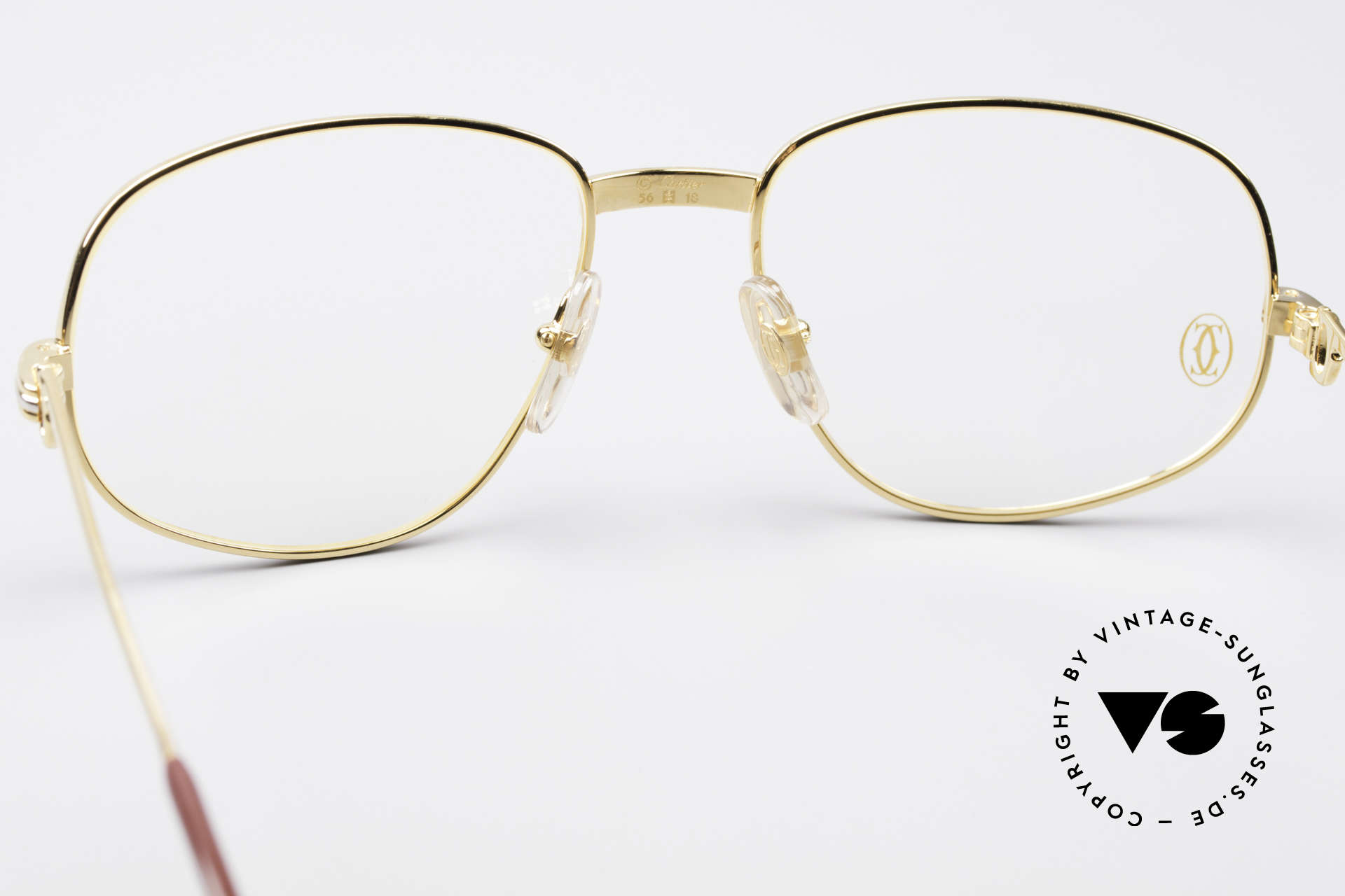 Cartier Romance LC - M Luxury Designer Glasses, 22ct gold-plated frame (like all vintage Cartier originals), Made for Men and Women