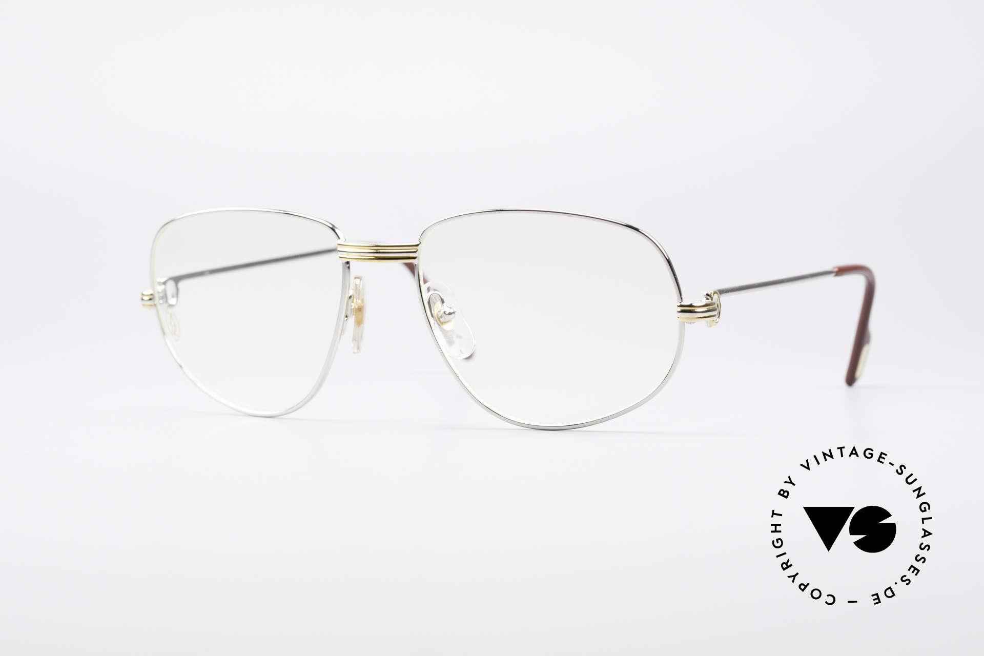 Cartier Romance LC - L Platinum Finish Frame, vintage Cartier eyeglasses; model ROMANCE Louis Cartier, Made for Men