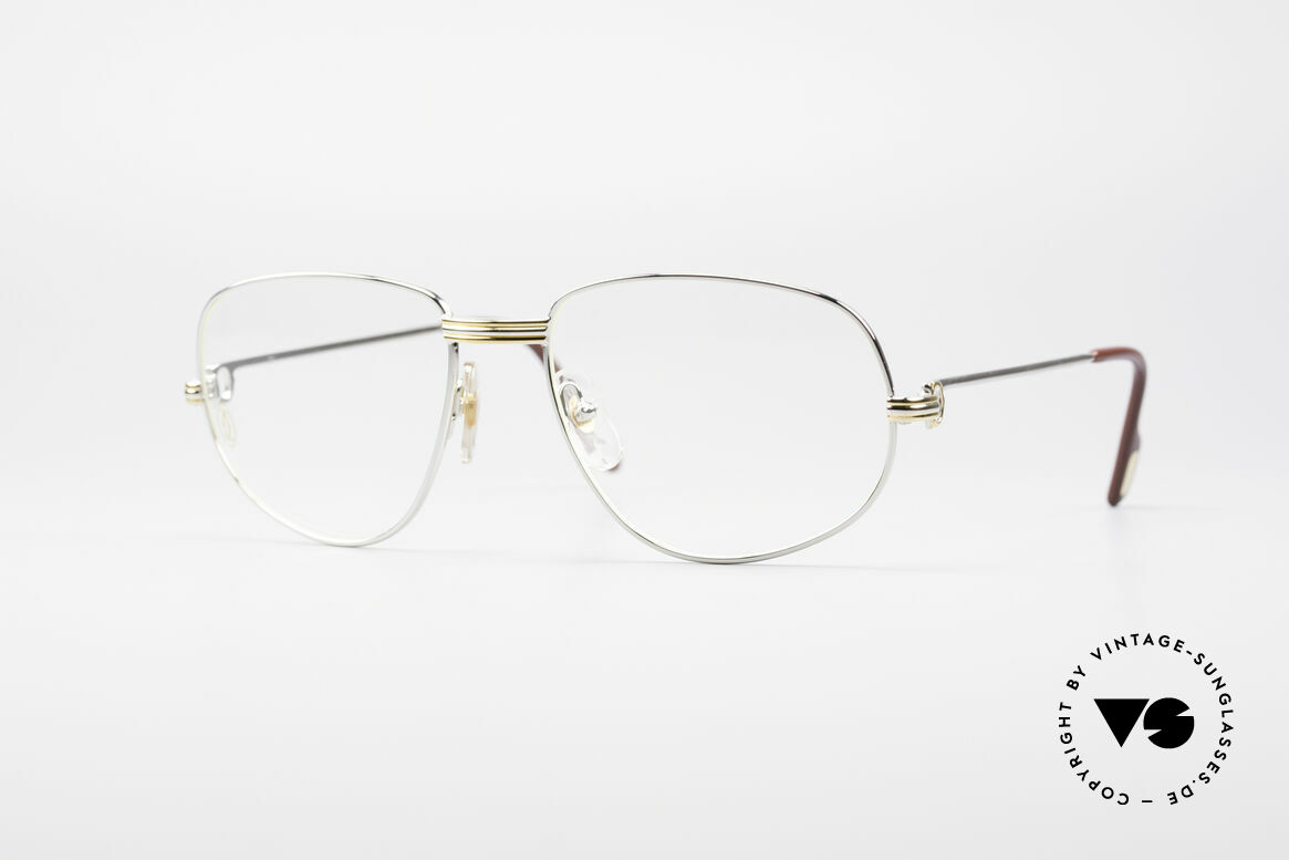 Cartier Romance LC - L Platinum Finish Frame, vintage Cartier eyeglasses; model ROMANCE Louis Cartier, Made for Men