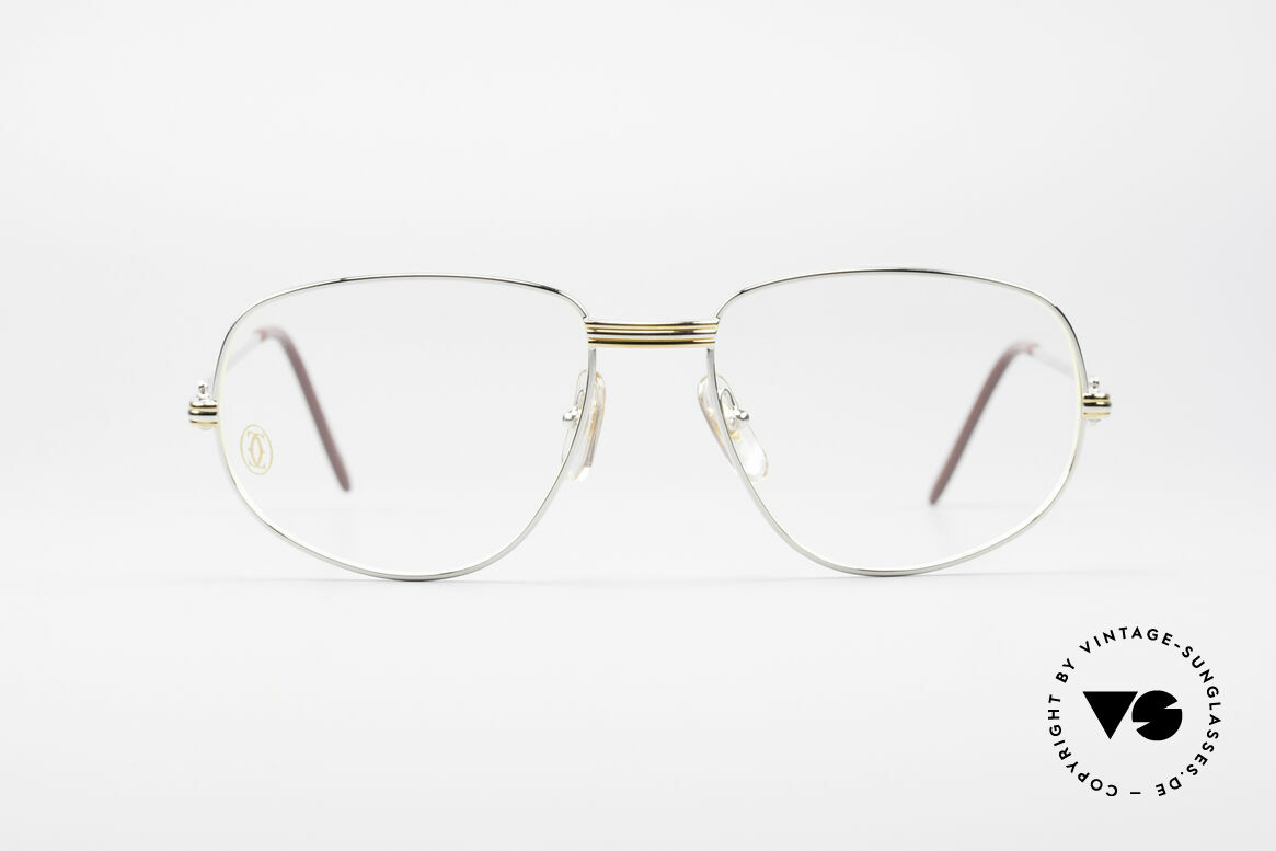 "Cartier Romance LC - L Platinum Finish Frame, mod. ""Romance"" was launched in 1986 and made till 1997, Made for Men"