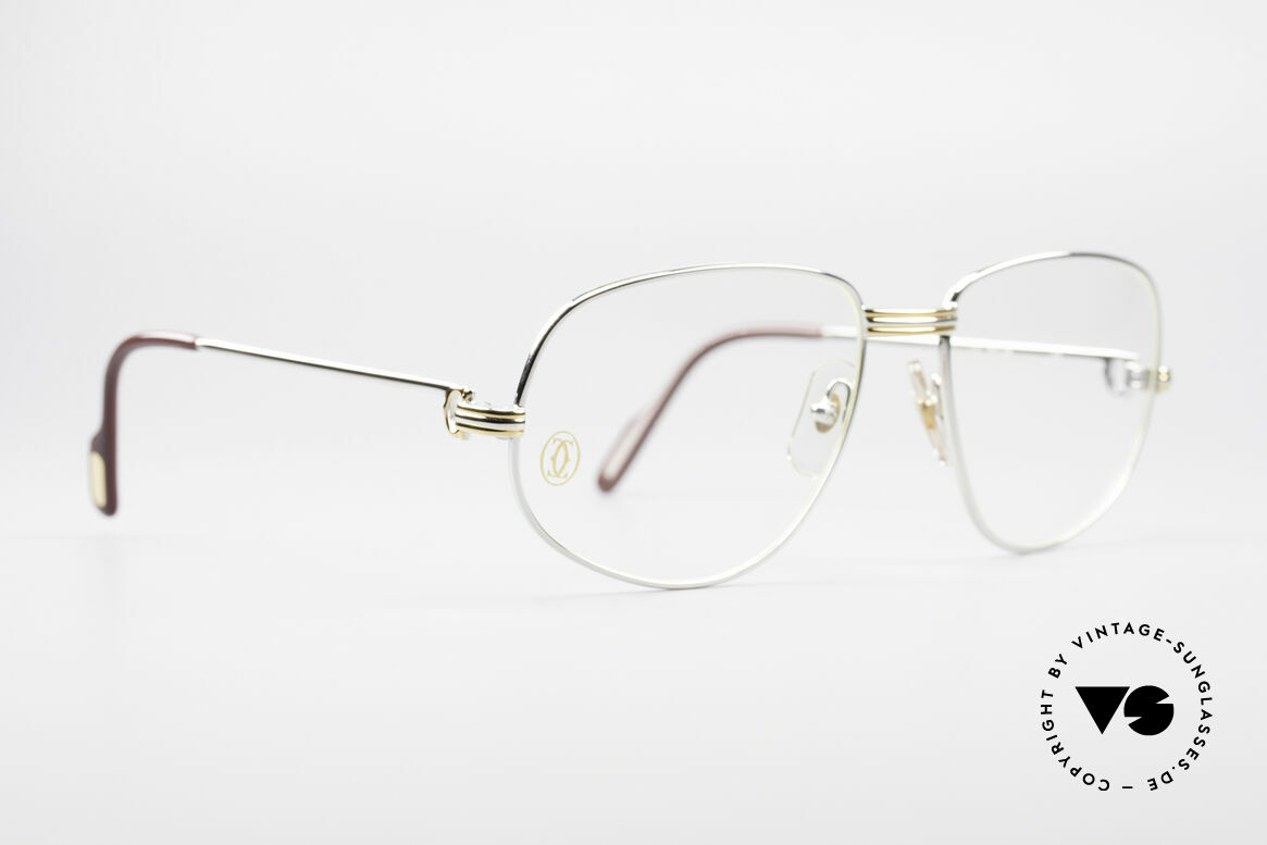 Cartier Romance LC - L Platinum Finish Frame, this pair (with L. Cartier decor) is LARGE size 58-18, 135, Made for Men