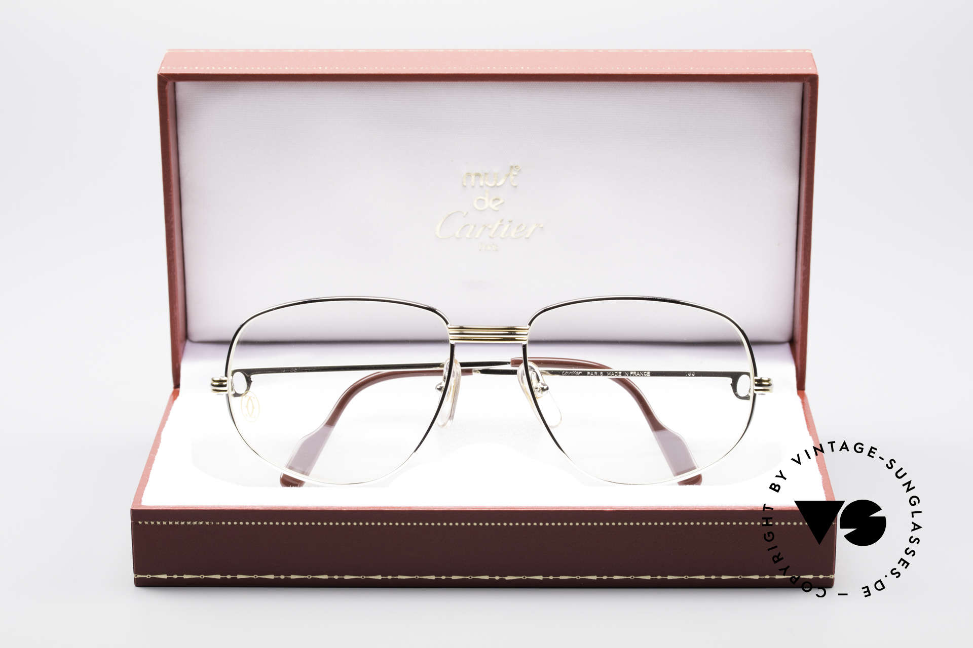 Cartier Romance LC - L Platinum Finish Frame, unworn with orig. packing (hard to find in this condition), Made for Men