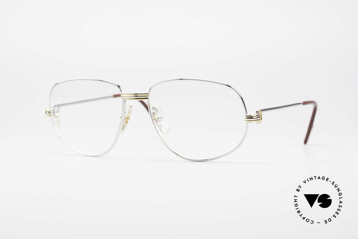 Cartier Romance LC - M Platinum Finish Glasses, vintage Cartier eyeglasses; model ROMANCE Louis Cartier, Made for Men and Women