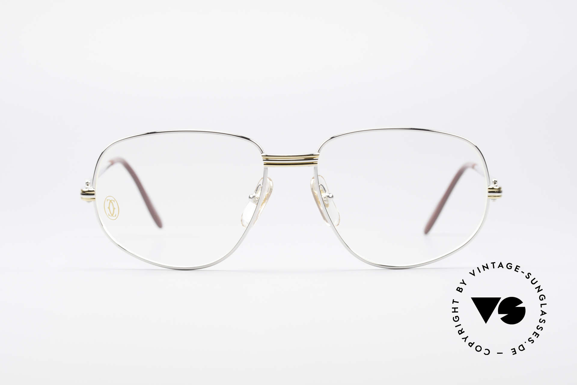 """Cartier Romance LC - M Platinum Finish Glasses, mod. """"Romance"""" was launched in 1986 and made till 1997, Made for Men and Women"""