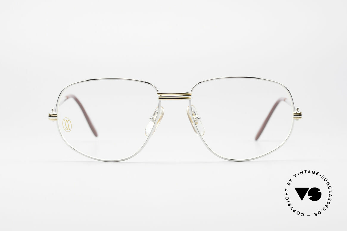 "Cartier Romance LC - M Platinum Finish Glasses, mod. ""Romance"" was launched in 1986 and made till 1997, Made for Men and Women"