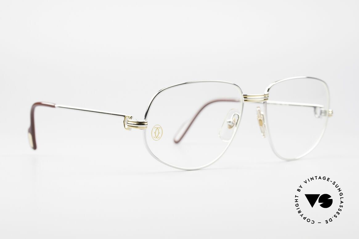 Cartier Romance LC - M Platinum Finish Glasses, this pair (with L. Cartier decor): MEDIUM size 56-16, 130, Made for Men and Women