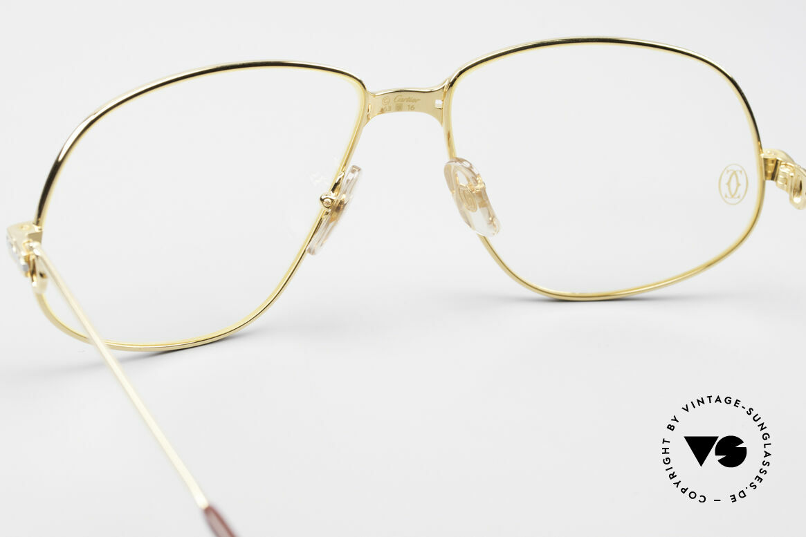 Cartier Panthere G.M. - XL Luxury Eyeglasses, precious luxury eyeglass-frame in X-Large size 63-16, 140, Made for Men
