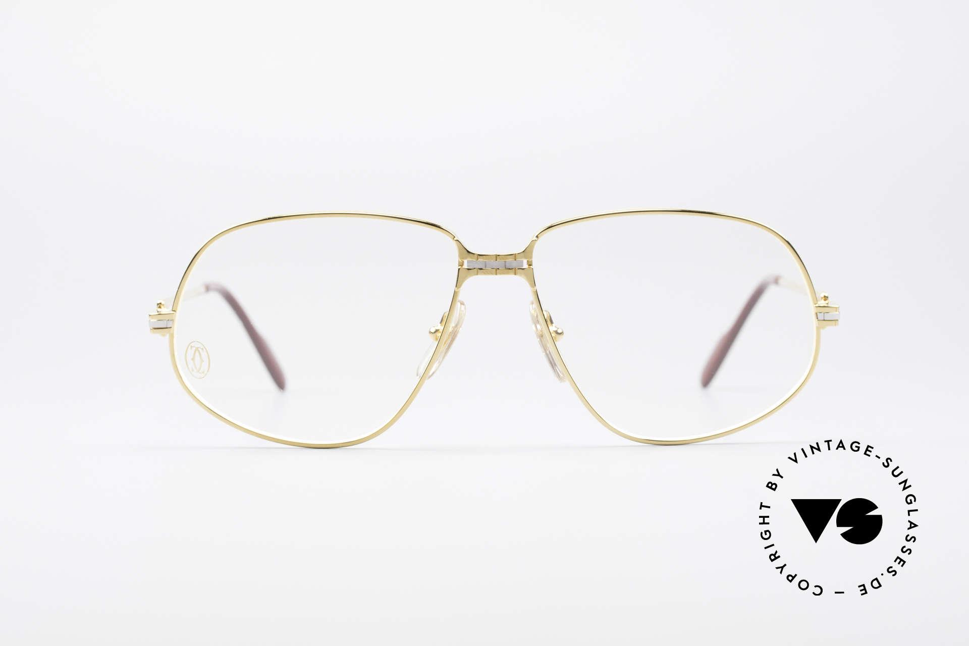 Cartier Panthere G.M. - L 1980's Luxury Eyeglass-Frame, G.M. stands for 'grande modèle' for monsieur / gentleman, Made for Men