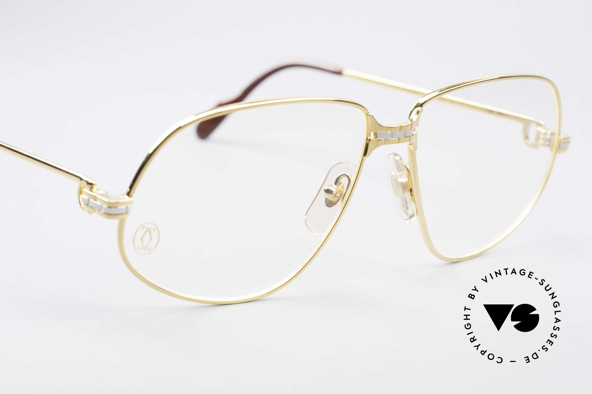 Cartier Panthere G.M. - L 1980's Luxury Eyeglass-Frame, 22ct gold-plated finish (like all vintage Cartier originals), Made for Men