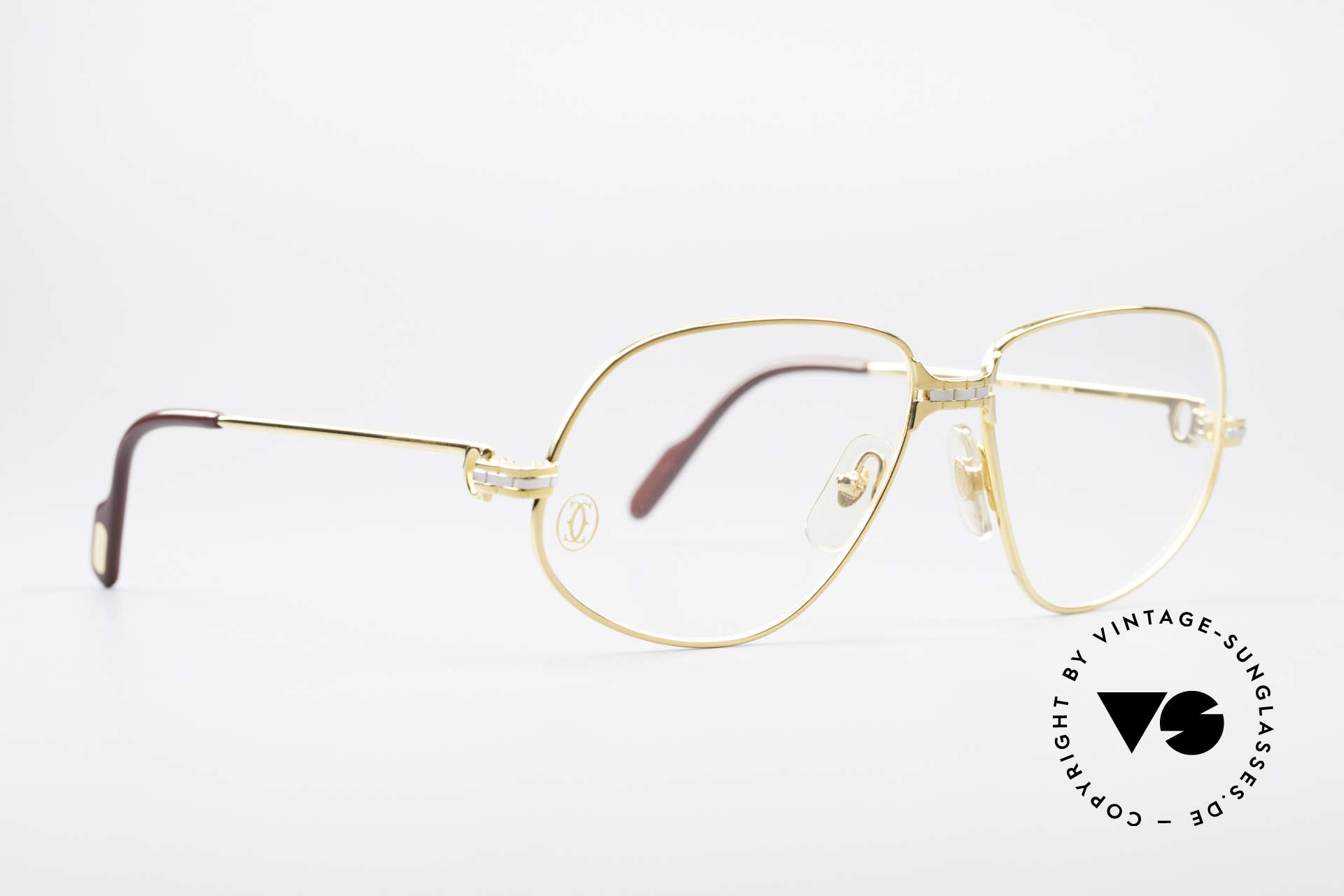 """Cartier Panthere G.M. - M 80's Luxury Vintage Eyeglasses, mod. """"Panthère"""" was launched in 1988 and made till 1997, Made for Men"""