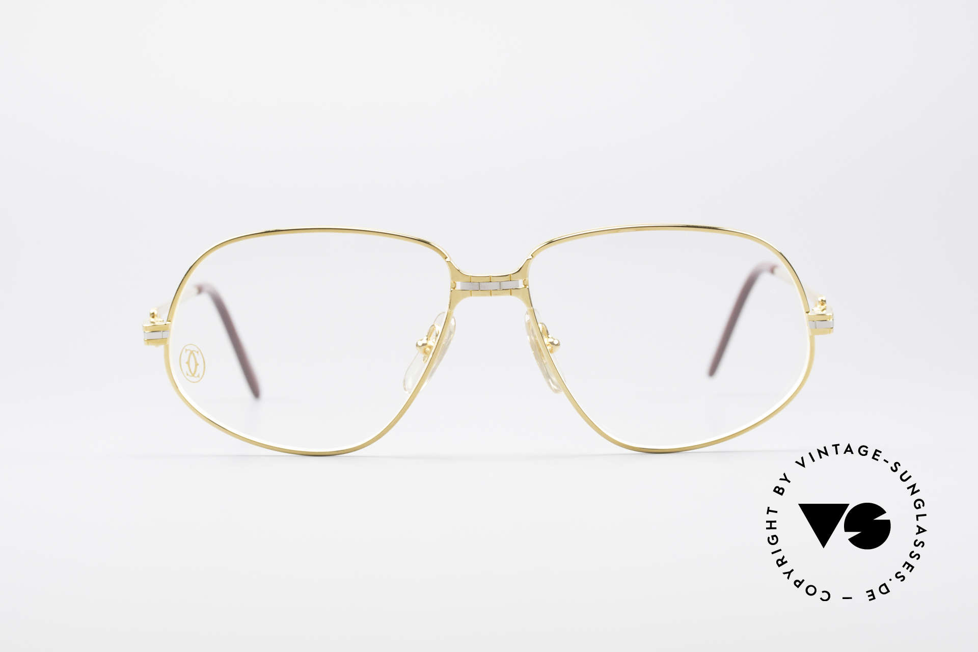 Cartier Panthere G.M. - M 80's Luxury Vintage Eyeglasses, G.M. stands for 'grande modèle' for monsieur / gentleman, Made for Men