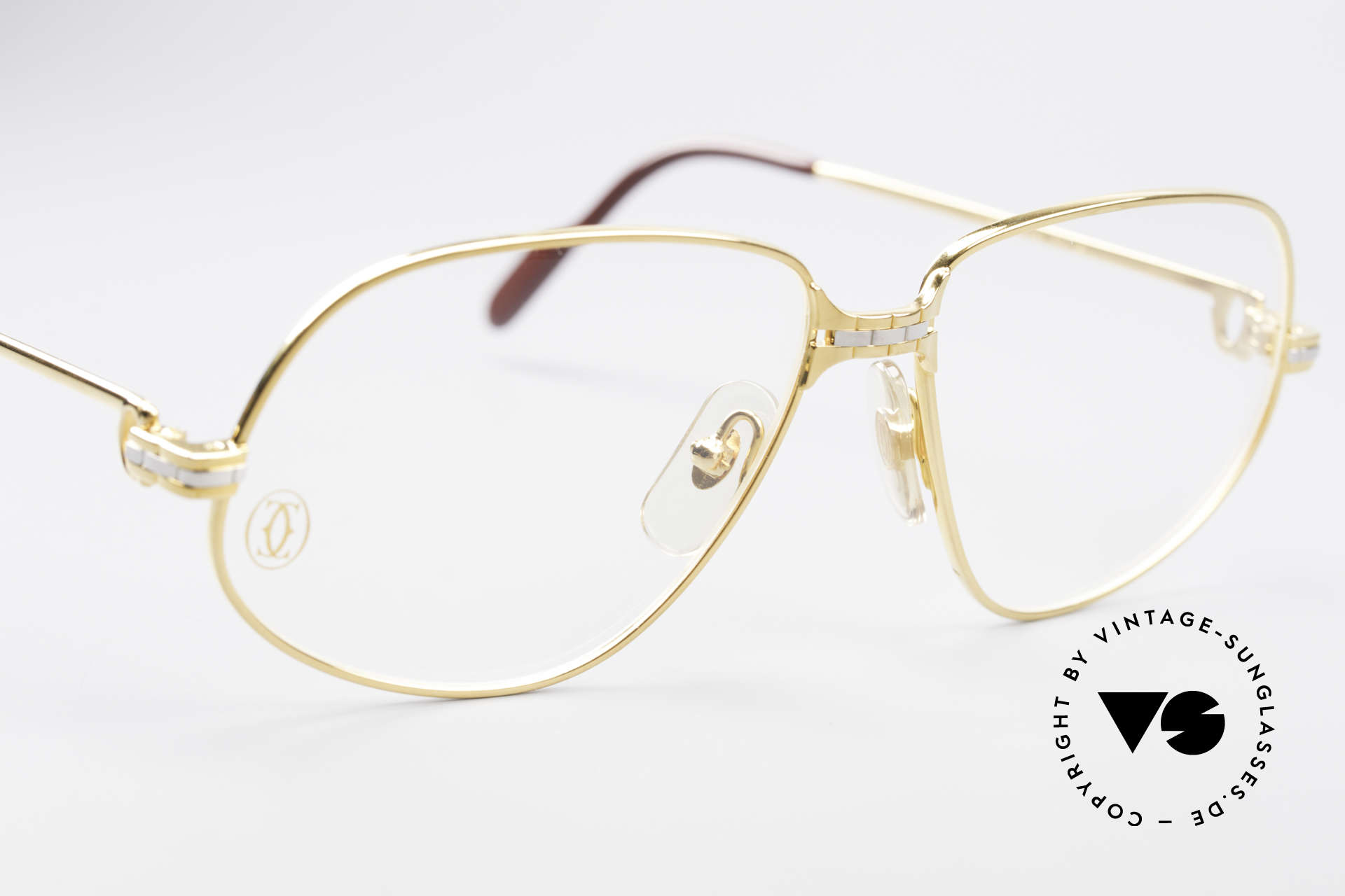 Cartier Panthere G.M. - M Luxury Eyeglasses, 22ct gold-plated finish (like all vintage Cartier originals), Made for Men
