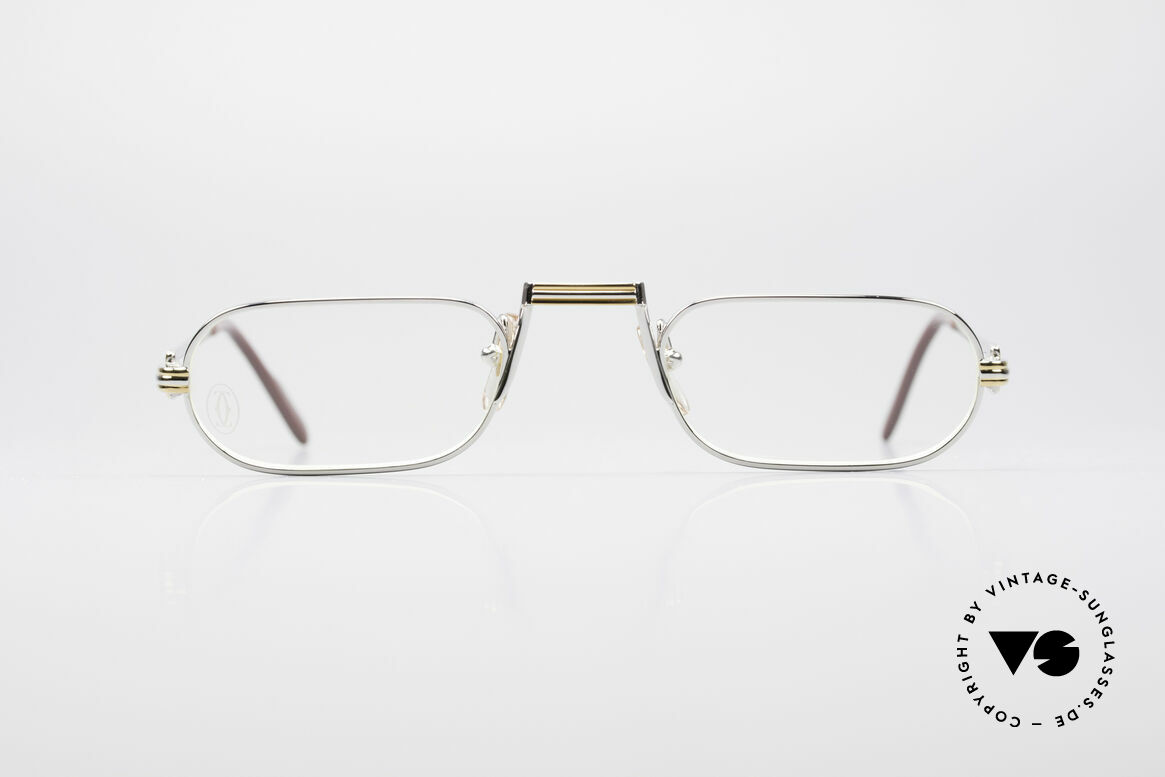 Cartier Demi Lune LC Platinum Reading Glasses, mod. 'Demi Lune' was launched in 1987 and made till 1997, Made for Men