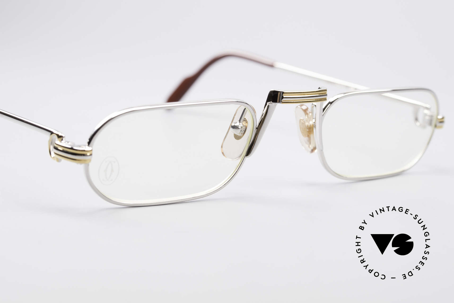 Cartier Demi Lune LC Platinum Reading Glasses, rare & expensive edition with platinum finish; pure luxury, Made for Men