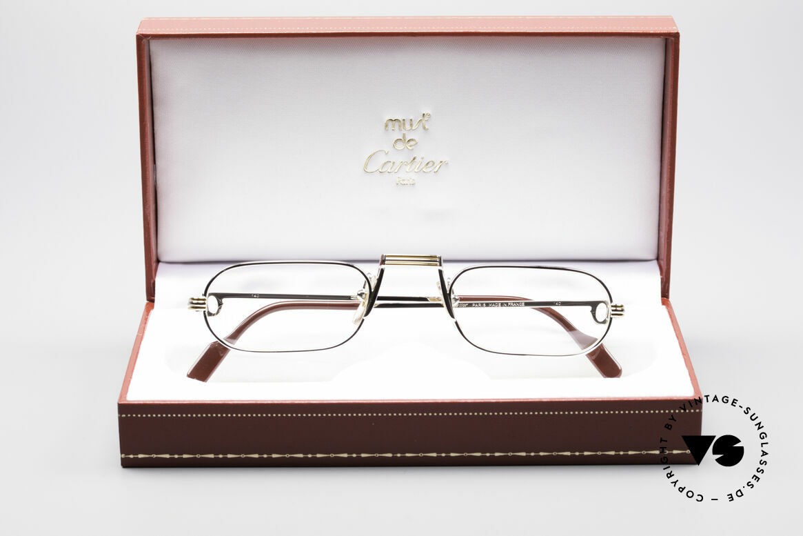 Cartier Demi Lune LC Platinum Reading Glasses, unworn with orig. packing (hard to find in this condition), Made for Men