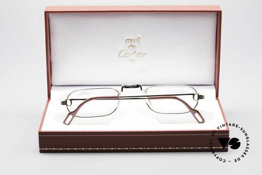 Cartier Demi Lune LC Platinum Reading Glasses, NO RETRO specs; a precious 30 years old vintage ORIGINAL, Made for Men