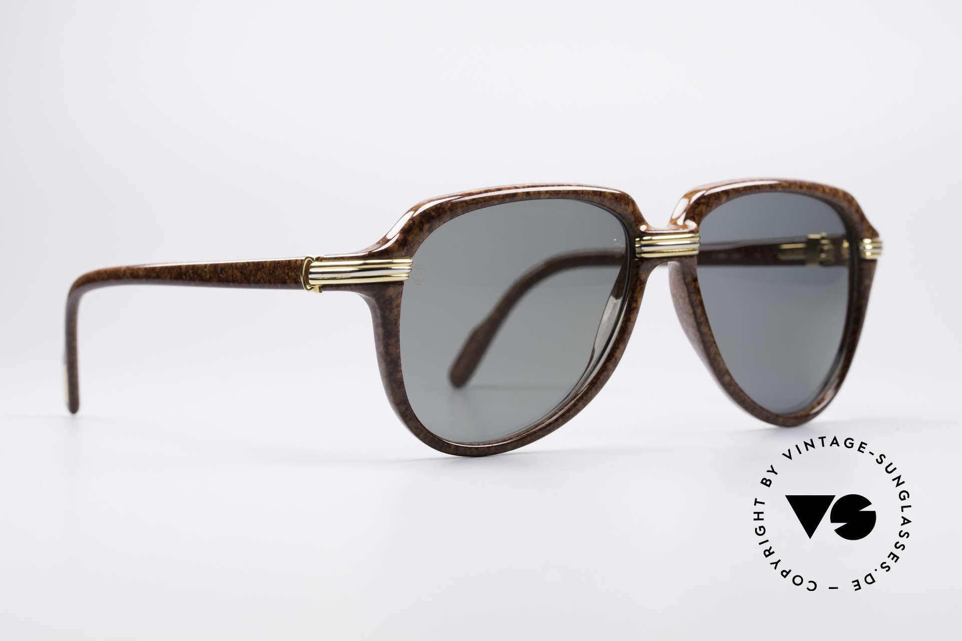Cartier Vitesse - L Luxury Aviator Shades, high-end original lenses with CARTIER logo (100% UV), Made for Men