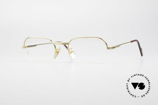 Cartier Ascot Semi Rimless Eyeglasses Details