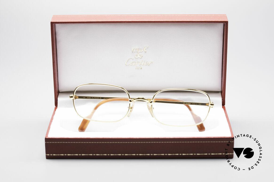 Cartier Deimios 90's Luxury Eyeglasses, unworn rarity incl. orig. Cartier packing (case, cloth), Made for Men
