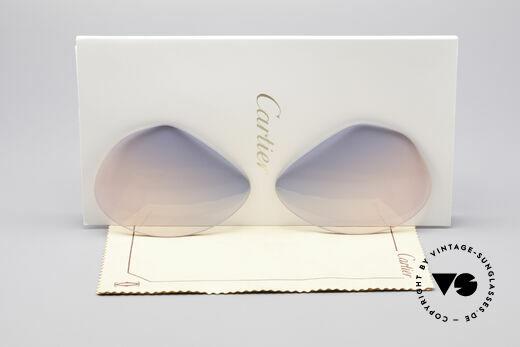 Cartier Vendome Lenses - L Sun Lenses Blue Pink Gradient Details
