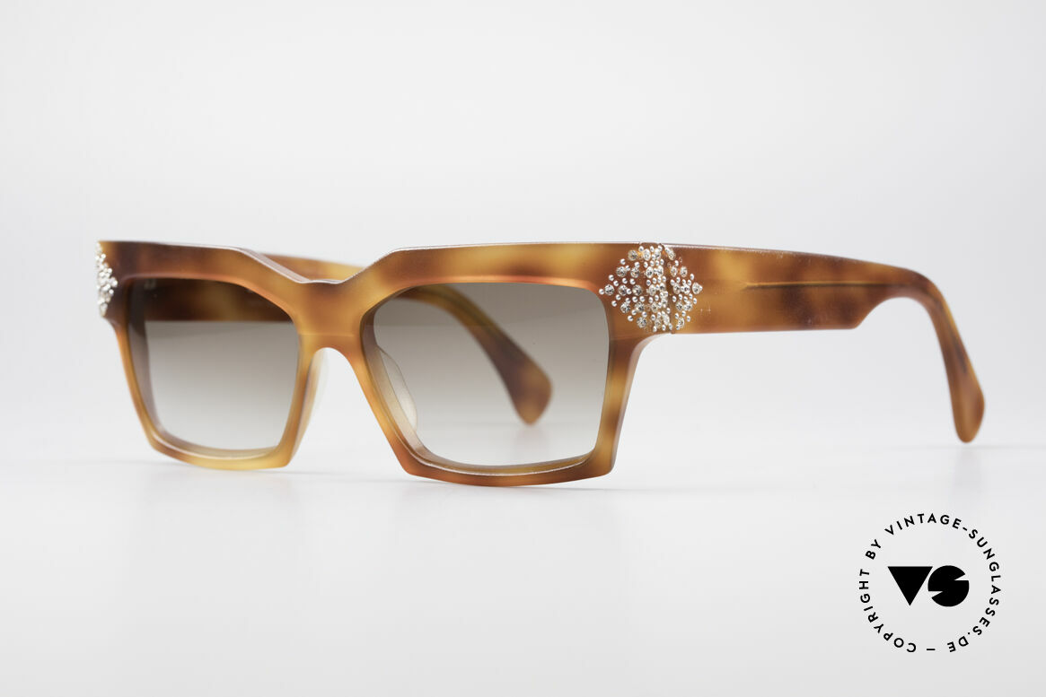 Alain Mikli 318 / 053 80's Gem Designer Sunglasses, extravagant, but noble & sophisticated (typically A.M.), Made for Women