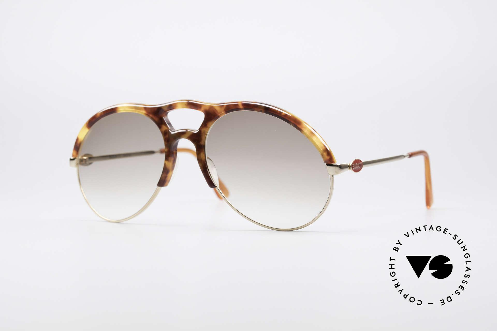 Bugatti 64900 Tortoise Optic 80's Glasses, precious BUGATTI vintage luxury sunglasses for men, Made for Men