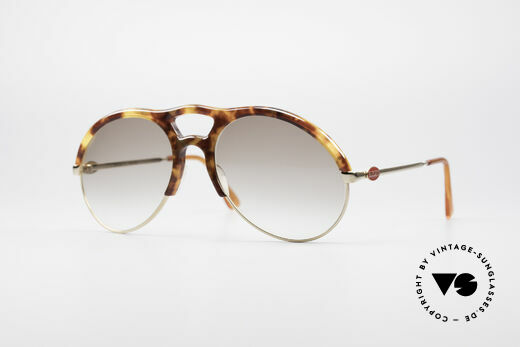 Bugatti 64900 Tortoise Optic 80's Glasses Details