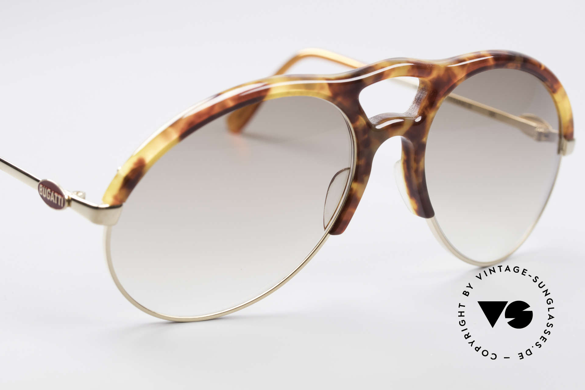 Bugatti 64900 Tortoise Optic 80's Glasses, new old stock (like all our old BUGATTI ORIGINALS), Made for Men