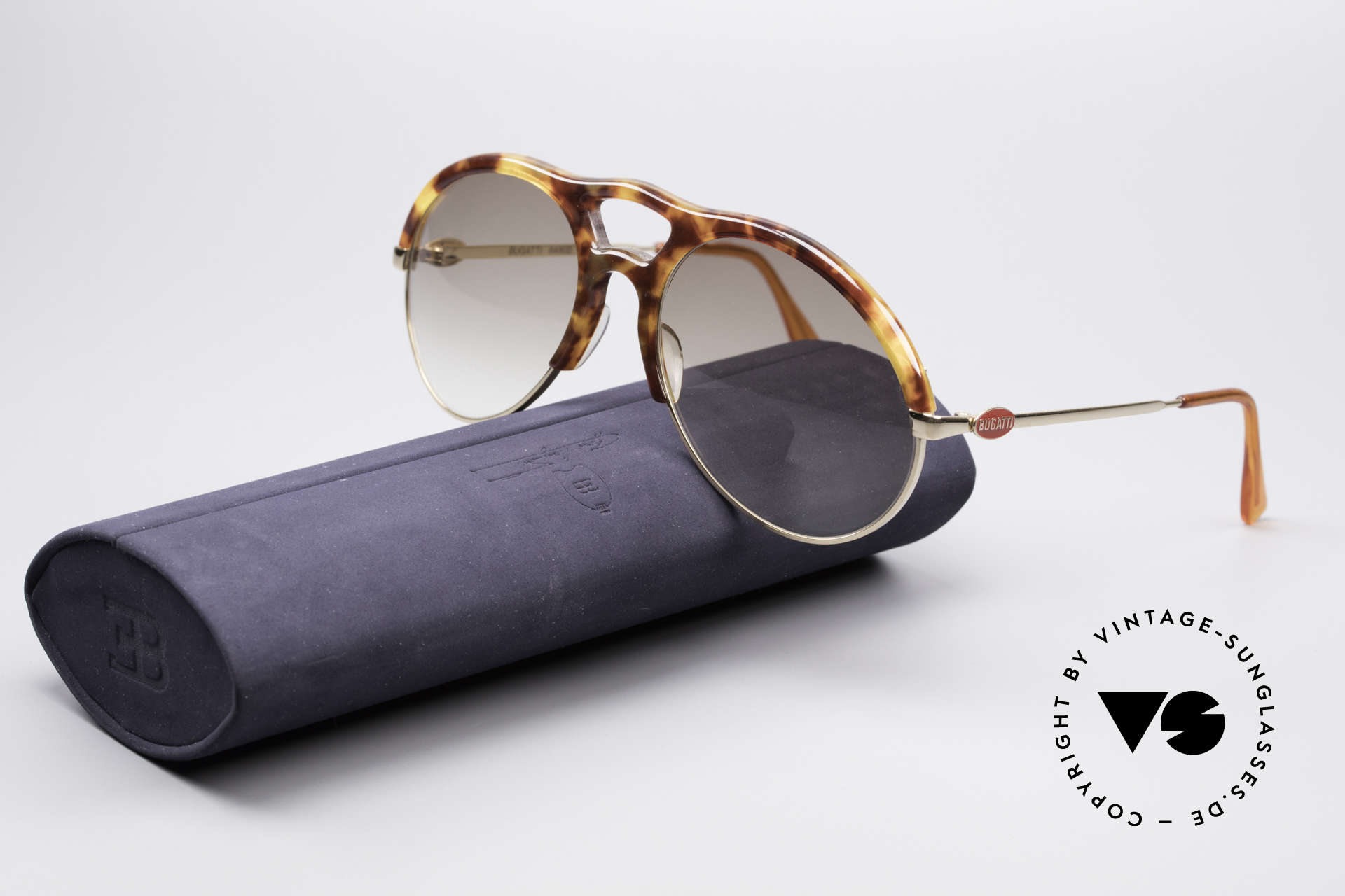 Bugatti 64900 Tortoise Optic 80's Glasses, Size: large, Made for Men