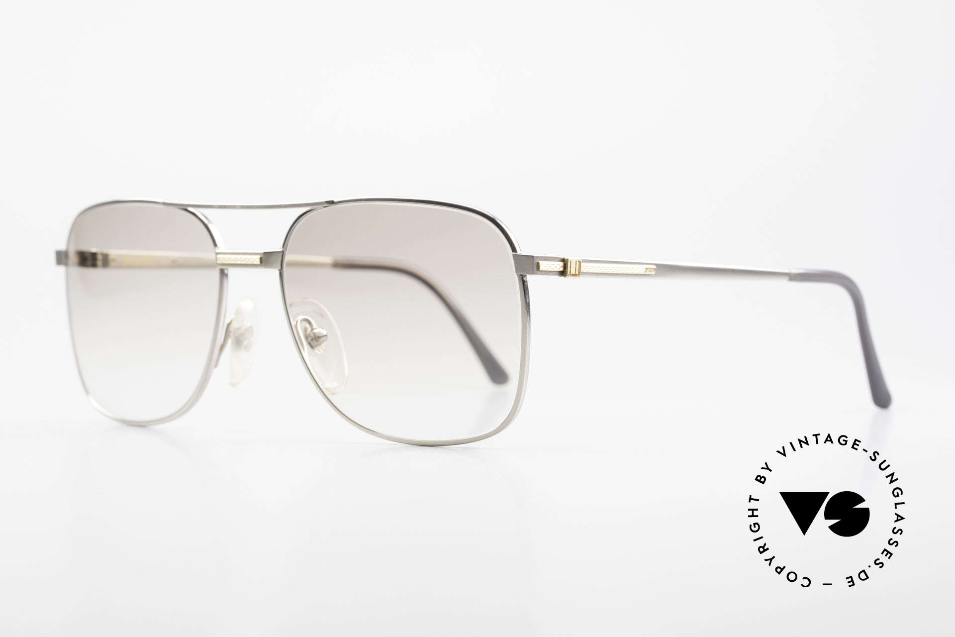 Dunhill 6066 18kt Gold Titanium Glasses, manufacturing costs in 1988 = 120,- DM (app. 75 USD), Made for Men