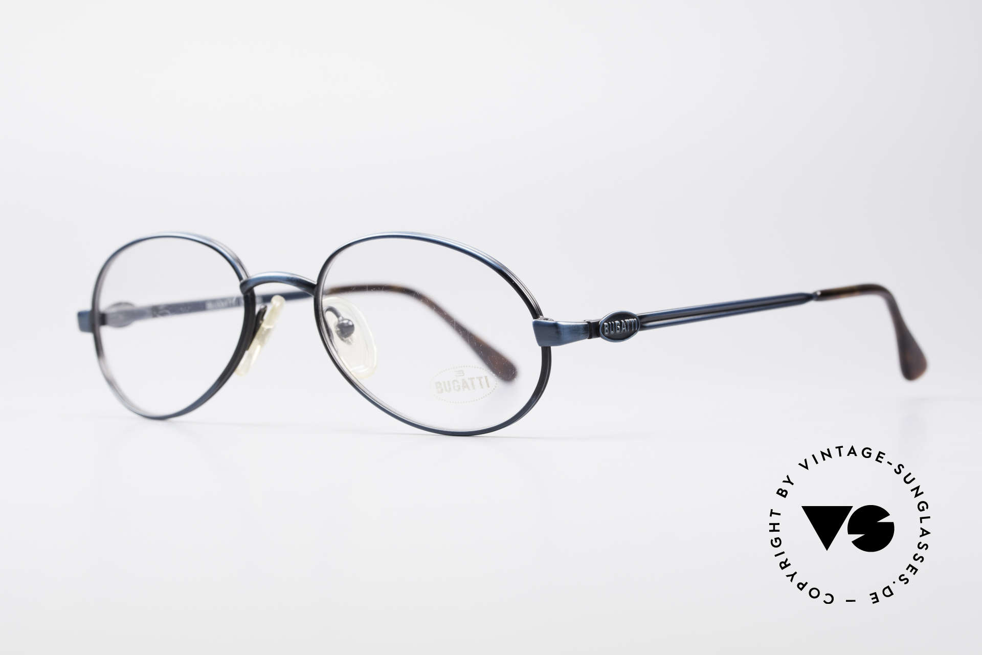Bugatti 05728 Rare 90's Eyeglasses, steady metal frame with flexible spring hinges / arms, Made for Men
